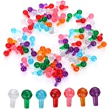 Taghua 100Pcs Plastic Lites Ceramic Christmas Tree Replacement Lights, Small Pin Globe Light Ornaments Assorted Colors for Ha