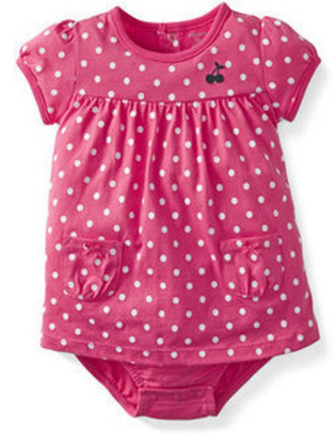 Carter's Sunsuit (Baby) - Pink Dots-9 Months