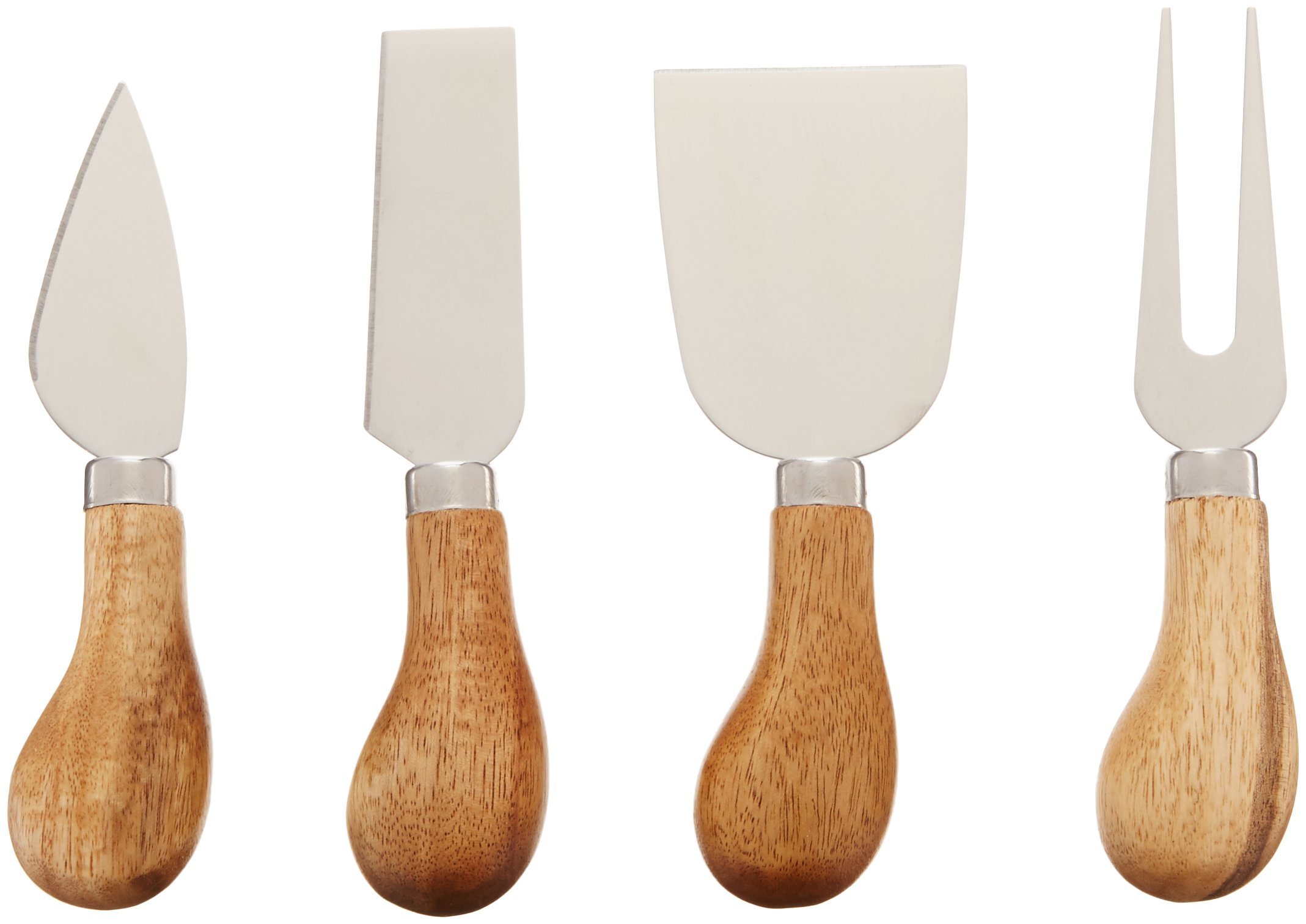 Rustic Farmhouse Gourmet Cheese Knives and Serving Tools by Twine - (4 Cheese Tools) by Twine