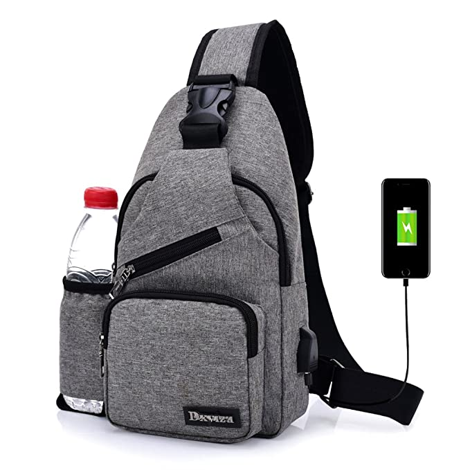 eb36fa837 Image Unavailable. Image not available for. Color: Sling Chest Bag Shoulder  Crossbody Backpack Messenger Bags Water Bottle Holder