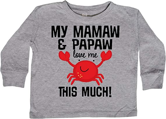 inktastic Mamaw and Papaw Love Me Long Sleeve Creeper