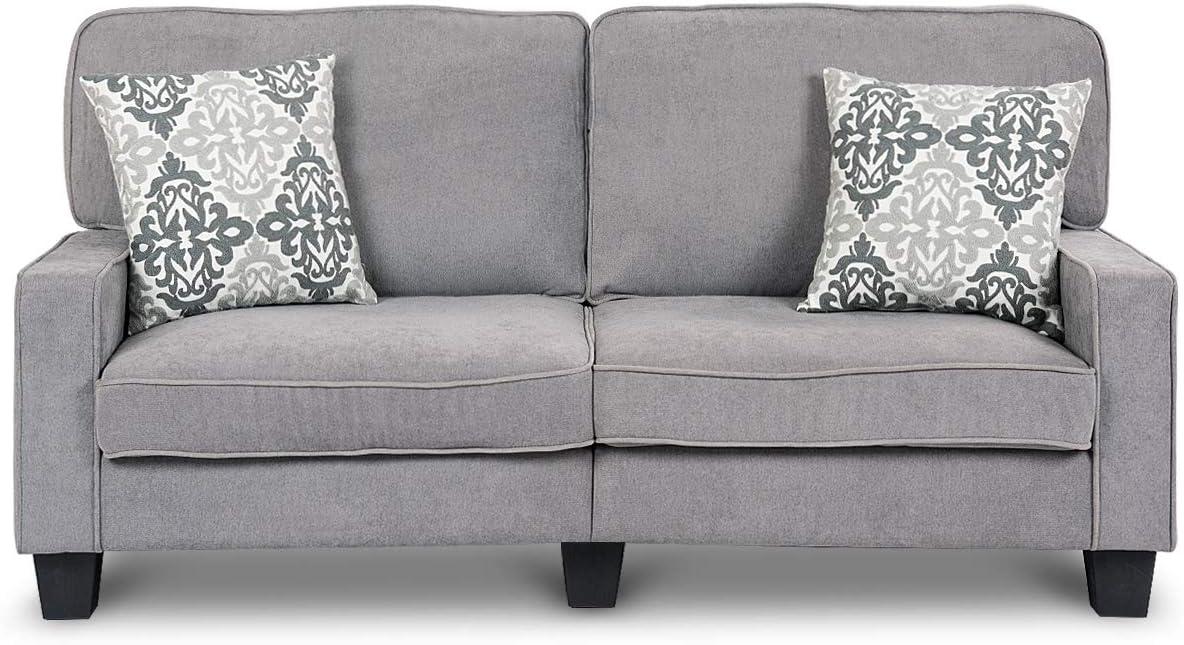 Modern 2 Seater Sofa, BestComfort Upholstered Loveseat,Velvet Sofa for Living Room,Removable Washable Sofa Covers