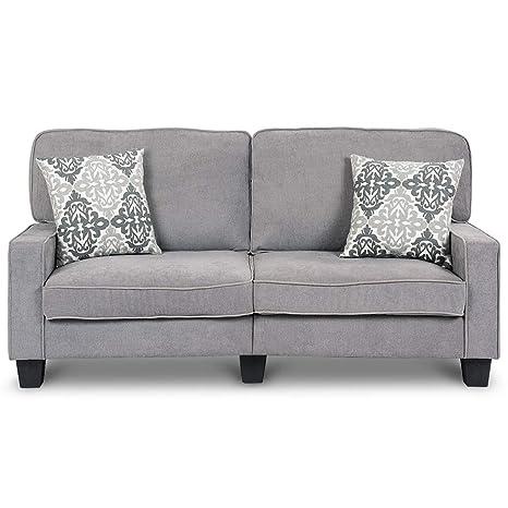 Modern 2 Seater Sofa, BestComfort Upholstered Loveseat,Velvet Sofa for  Living Room,Removable & Washable Sofa Covers