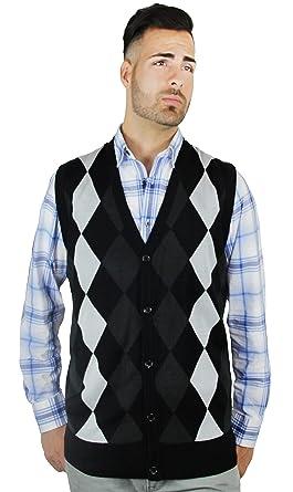 1c442b1a3 Blue Ocean Argyle Button-Down Sweater Vest at Amazon Men s Clothing ...