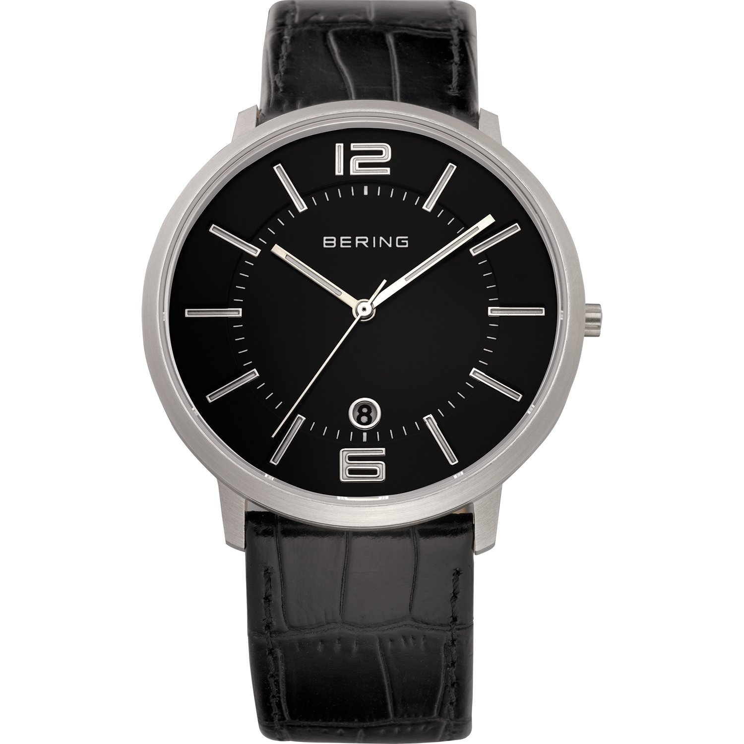 BERING Time 11139-409 Classic Collection Watch with Calfskin Band and Scratch Resistant Sapphire Crystal. Designed in Denmark.