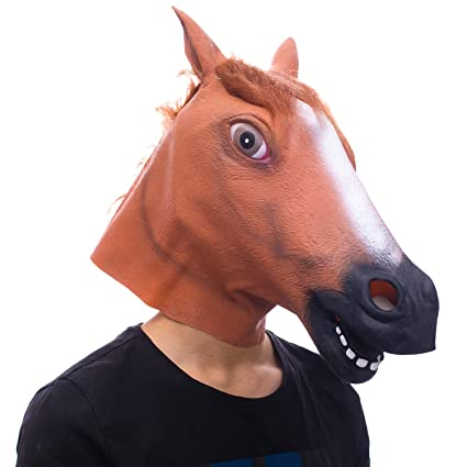 molezu horse mask creepy horse mask rubber latex animal mask novelty halloween costumes