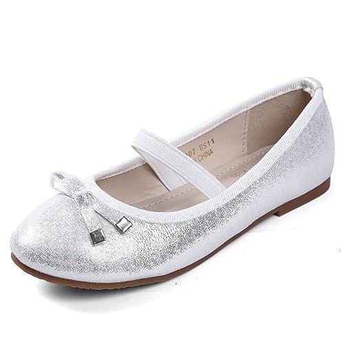 66e87ddf85340 EIGHT KM Girls Ballet Flats Mary Janes Dress Shoes