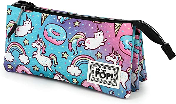 Oh My Pop! Dream - Estuche Portatodo Triple HS, Multicolor: Amazon.es: Equipaje