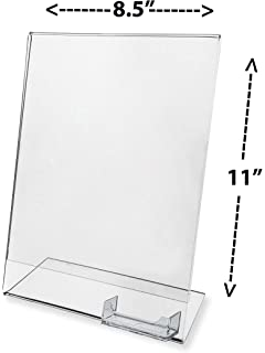 Amazon sliding in business card holder wpaper weight office marketing holders advertising frame with business card holder clear acrylic 85 w x colourmoves
