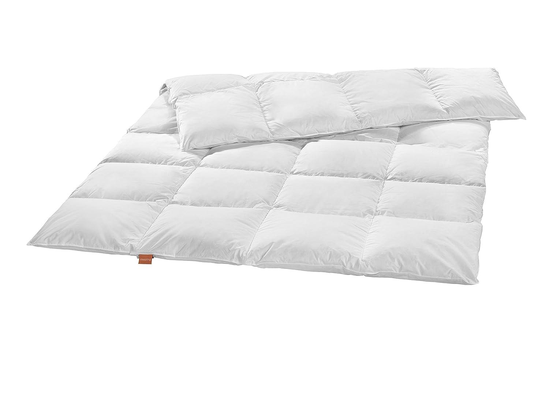 Sleepling warme Winter Daunendecke weißen Daunen (90%) und Federn (10%) 155 x 220 cm, weiß