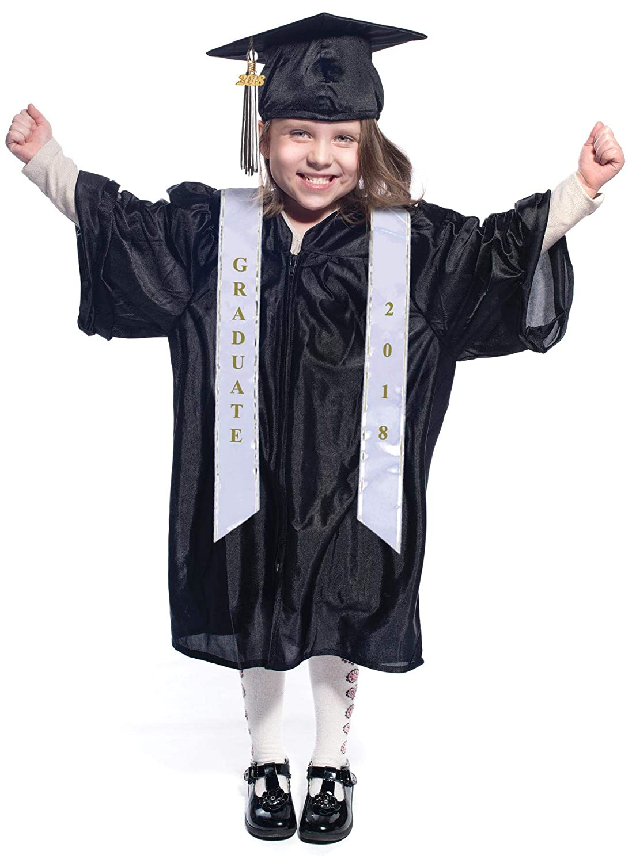 Amazon.com: Preschool Graduation Cap and Gown with Tassel, Sash ...
