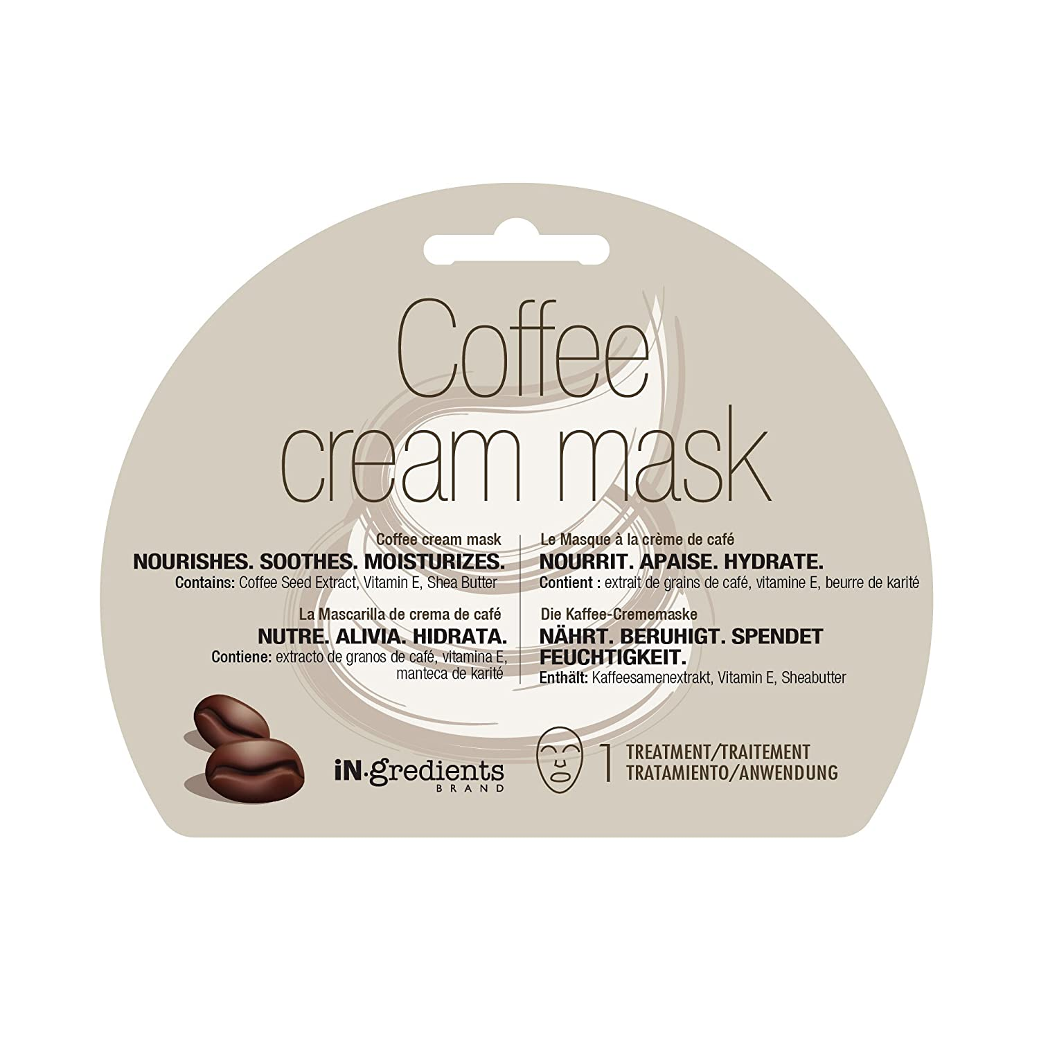 Amazon.com : iN.gredients Coffee Cream Mask - Moisturizing, Cleansing, Exfoliating Pore Refiner for Dehydrated, Sensitive Skin - Made in Korea : Beauty