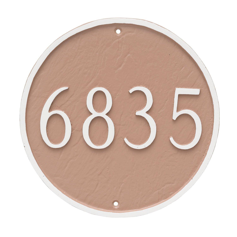 Montague Metal Circle Address Sign Plaque, 9.5'' x 9.5'', Black/Gold