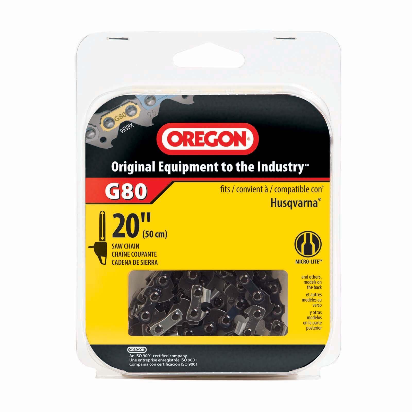 Oregon G80 SpeedCut 20-Inch Chainsaw Chain, Fits Husqvarna