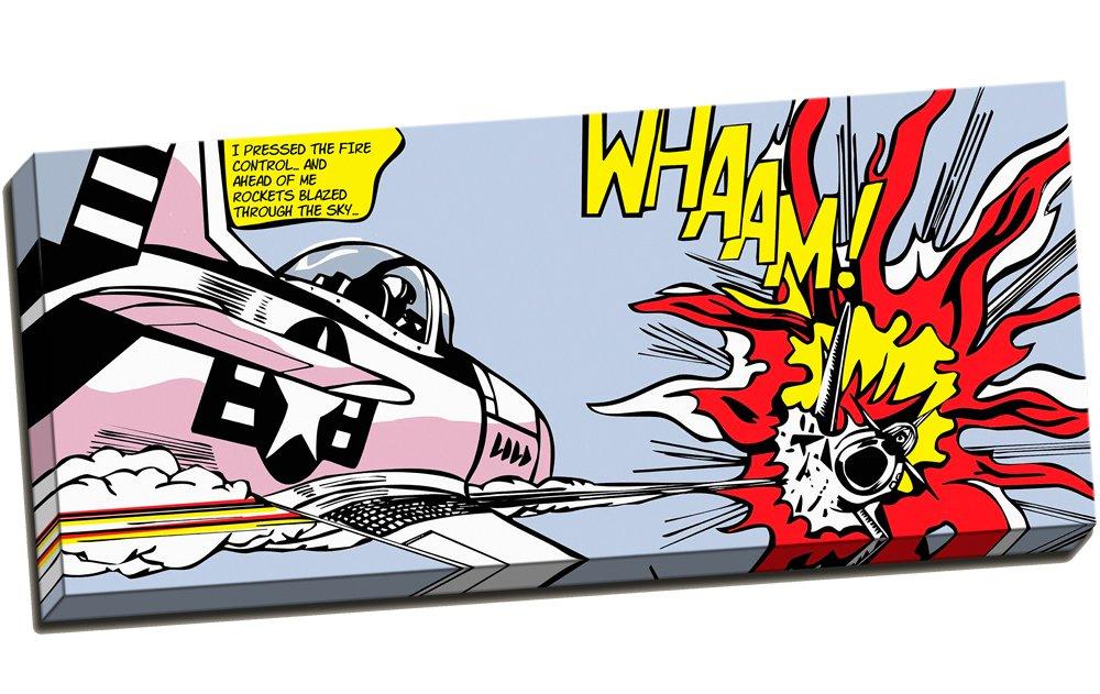 Gerahmtes Bild, Motiv  Whaam  von Roy Lichtenstein Dogfight Pop Art Vector-Druck., 60