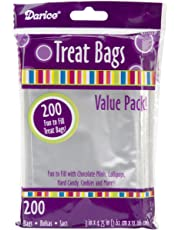Darice 28-001V Value Pack Clear Treat Bags, Clear, 3 x 4.75, 200ct