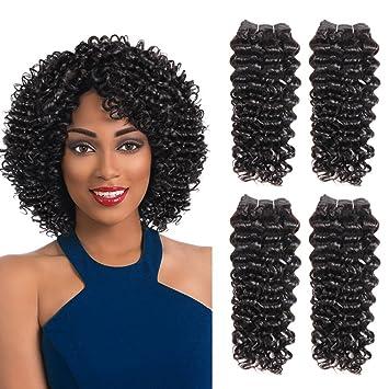 Amazon sleek 4 bundles of short jerry curl weave human hair sleek 4 bundles of short jerry curl weave human hair 10quot10quot pmusecretfo Images