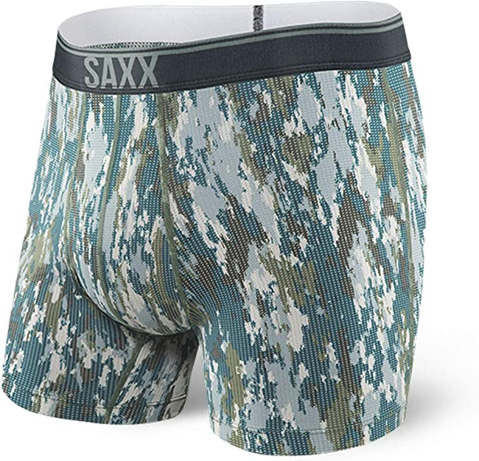 Bark Camo Saxx Mens Quest Fly Boxer Briefs Sports Underwear