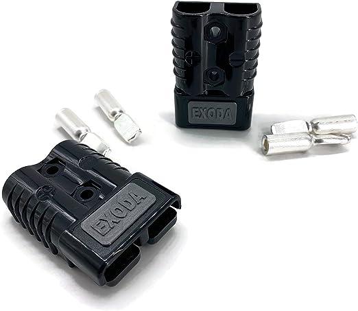 Batterie Stecker 175a 25 Mm2 Schwarz Set Steckverbinder Für Gabelstapler Kabel Beleuchtung