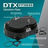 DTX Fitness Vibration Shaker Toning & Massaging Power Plate Gym Machine- Black