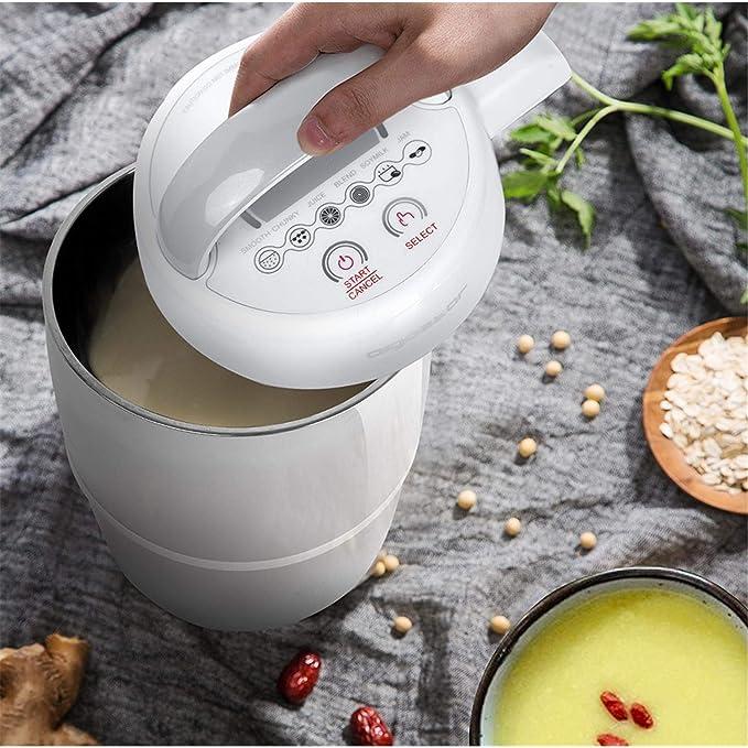 Máquina de leche vegetal, mermeladas, batidos, cremas o sopas. 952 W, 1,7 litros, función mantener caliente. Libre de BPA. Con Recetas descargables.