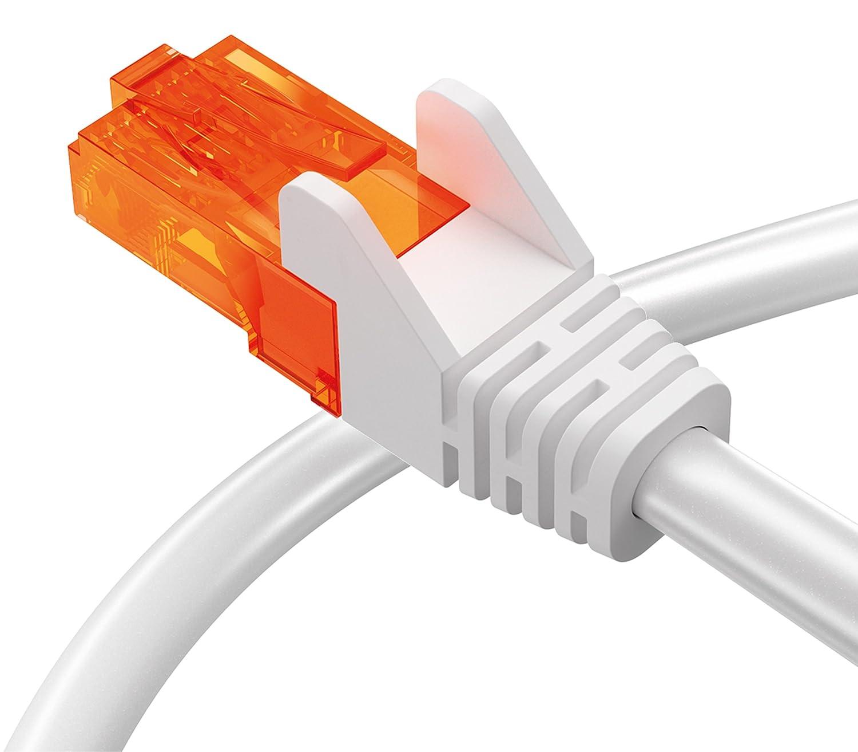 10 Meter Kabel in schwarz mumbi 10m CAT.7 Rohkabel S//FTP Ethernet Lan Patch Netzwerk Kabel RJ45 Stecker