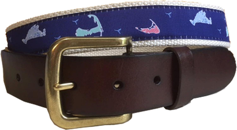 Nautical Island Leather Belt Marthas Vineyard Nautical Leather Belt Leather Tab and Buckle No27 Mens Nantucket Cape Cod