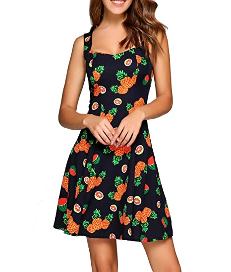 5065fd5b5b38 bulges Casual Dress for Women Knee Length Plus Size Party Casual Dresses  for Juniors Teens Girls Dresses at Amazon Women's Clothing store: