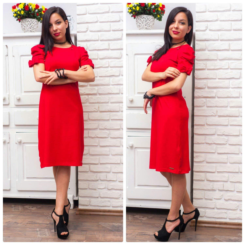 ribbons, shift red dress, casual dress