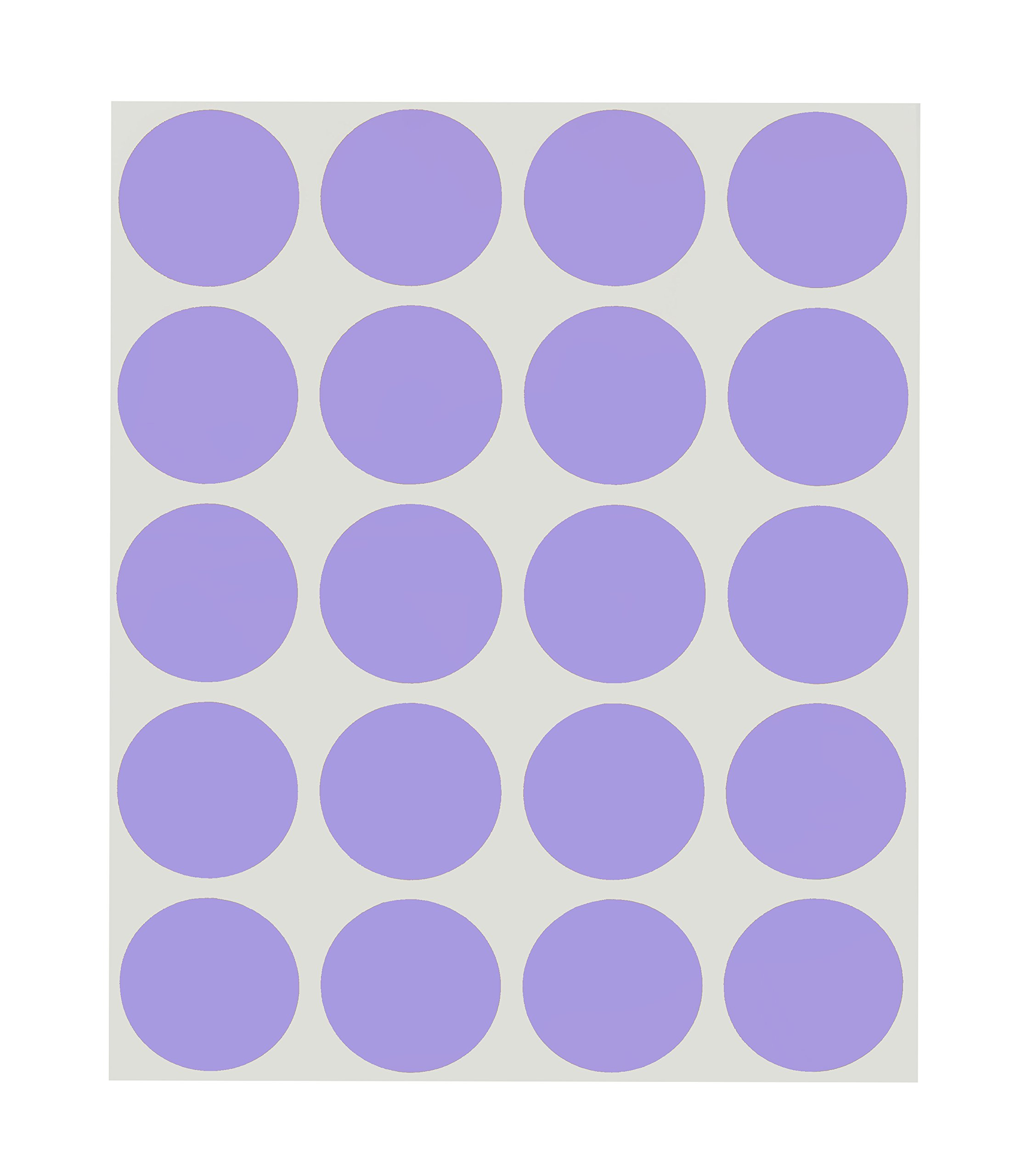 ChromaLabel 1 inch Removable Color-Code Dot Labels on Sheets | 1,000/Pack (Lavender)