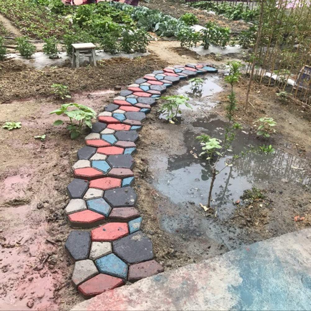 Adoquines para fraguado rápido de hormigón, Reutilizable Path Maker Irregular Adoquín de piedra para pavimento de patio con césped, jardín, pavimento, pavimento, 35 * 35 * 3.6 cm: Amazon.es: Bricolaje y herramientas