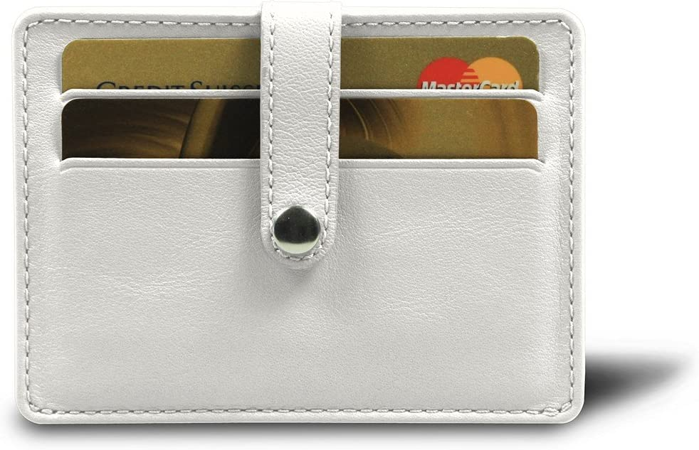 Cuir V/éritable Porte 2 Cartes de Credit Lucrin Bordeaux