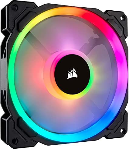 Corsair LL140 RGB Ventilador de PC (140 mm, Doble Halo RGB LED PWM ...