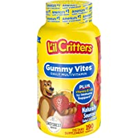 L'il Critters Gummy Vites Daily Kids Gummy Multivitamin: Vitamins C, D3 & Zinc for Immune Support, 190 Count (95-190 Day…