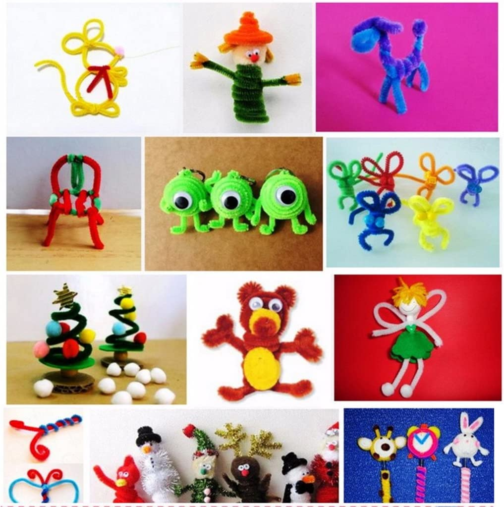 D DOLITY 200 St/ücke Chenille Vorbauten Pfeifenreiniger Kinder Handwerk Spielzeug Twist Rod Gelb /& Schwarz