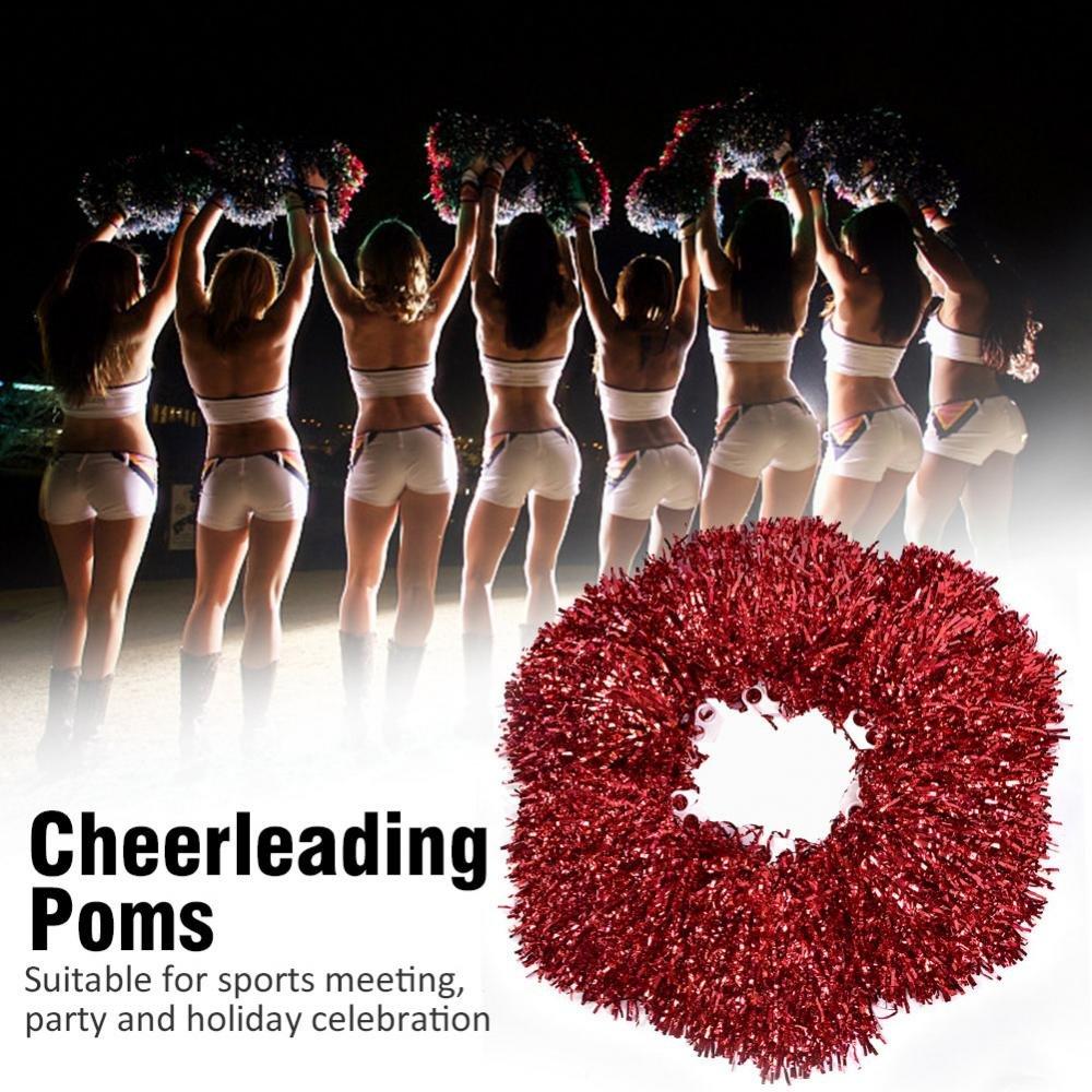 Sport Party VGEBY Cheerleader-Pompons mit Ringdesign f/ür Teamgeist 6 St/ück Tanzball