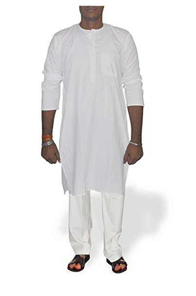 DakshCraft - Camiseta de Pijama - para Hombre Blanco Blanco X-Large
