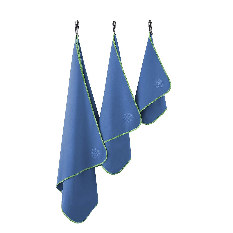 Inkl Reisehandtuch Bahidora Microfaser Handtuch schnelltrocknendes Handtuch Mikrofaser/Handt/ücher Aufh/ängeschlaufe /& Transportbeutel