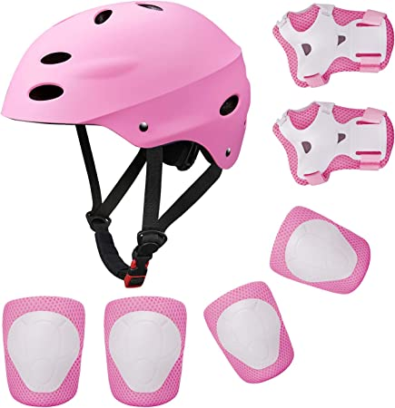 Imagen deCasco para bicicleta BMX, aeropatines, scooter para niños, rodilleras, coderas, muñequeras