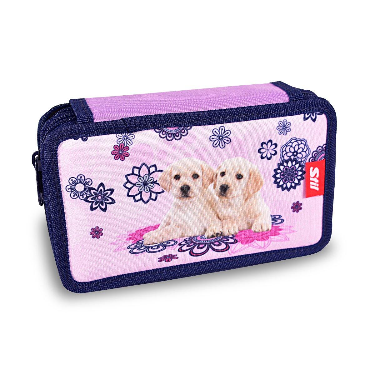 1523034/Stylish Double Tier Zip Around Pencil Bag Best Friends