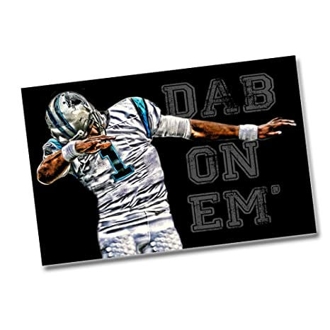 buy online cef43 512ef Brotherhood Products Panthers Cam Newton Dab On Em - Two 11x17 Posters