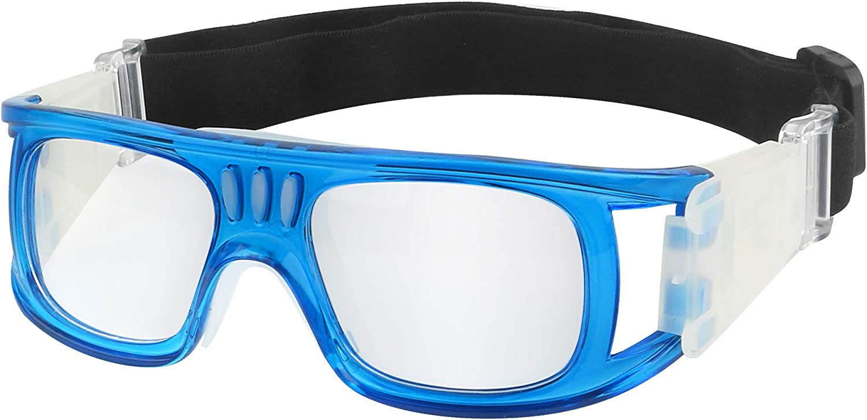 Baloncesto Gafas, Protección de los ojos receta lente reemplazable correa ajustable gancho de silicona, unisex Hombres Mujeres Gafas deportivas de la juventud para voleibol de fútbol Hockey Rugby