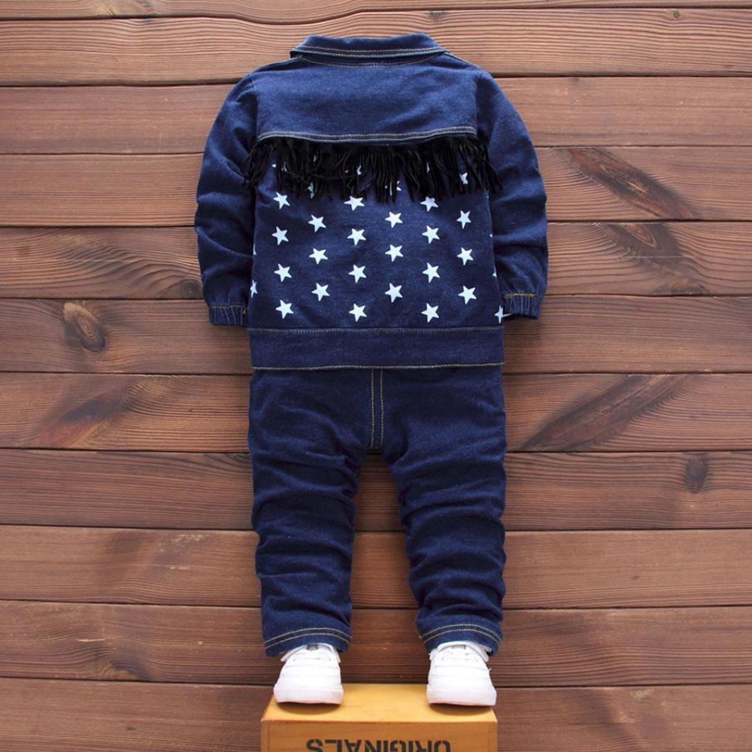 Amazon.com: moonker bebé niñas niños letra Demin perchero ...