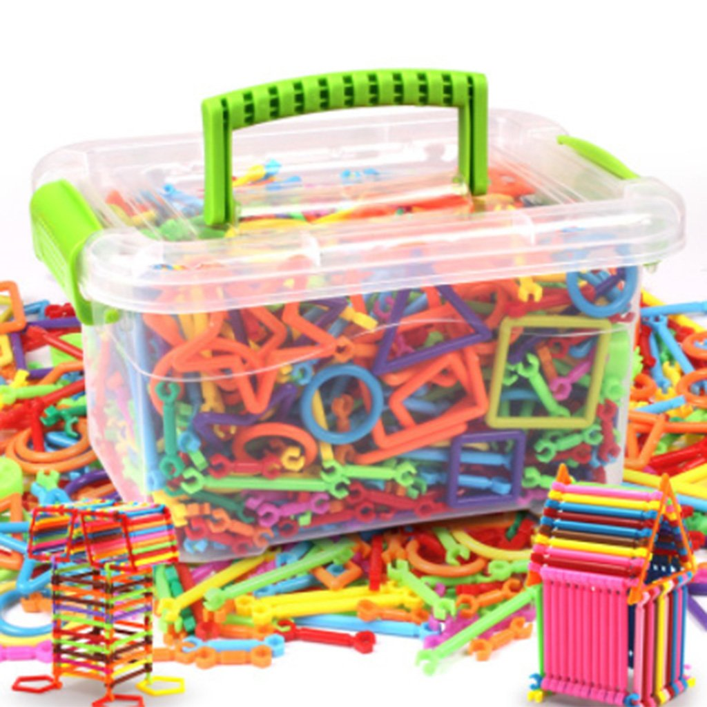 Building Blocks, Shoresu Hundreds of Bars Different Shape s Creative Kids Educational Toy