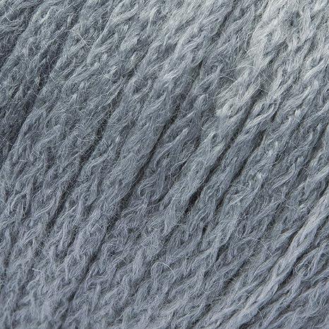 ggh Topas-Degrad/é Farbe:101 Laufl/änge ca.115m Verbrauch 400g Nadelst/ärke 7-8 Wolle zum Stricken und H/äkeln 50g Wolle als Kn/äuel Grau meliert Schurwolle Mischung