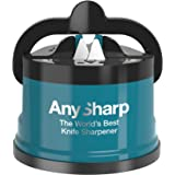 AnySharp ' Editions' World's Best Knife Sharpener, Deep Teal, with PowerGrip