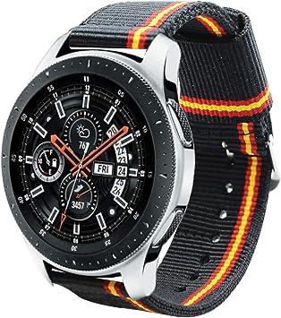 Estuyoya - Pulsera de Nailon Compatible con Samsung Galaxy Watch 3 45mm/ Gear S3 Frontier/Classic/Colores Bandera de España 22mm Ajustable Transpirable Deportiva Casual Elegante: Amazon.es: Electrónica