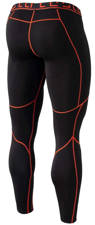 1ea0ac7184 Amazon.com : TSLA Men's Emboss Pants Thermal Wintergear Compression  Baselayer Sports Leggings YUP43 / YUP33 : Sports & Outdoors
