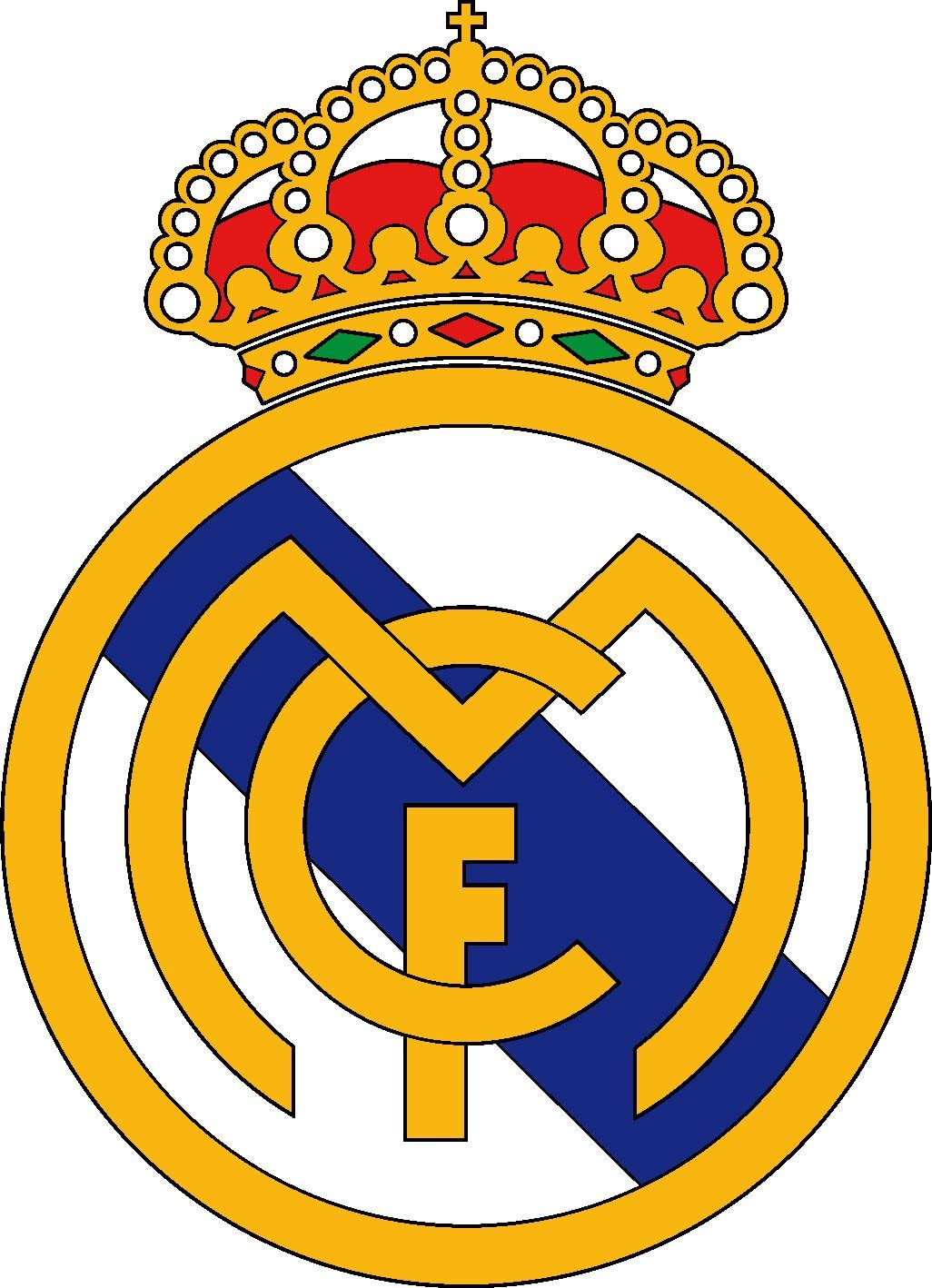 Adhesivo decorativo, diseño de equipo de fútbol Real Madrid 30 cm ...