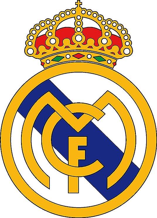 Adhesivo decorativo, diseño de equipo de fútbol Real Madrid 30 cm: Amazon.es: Hogar